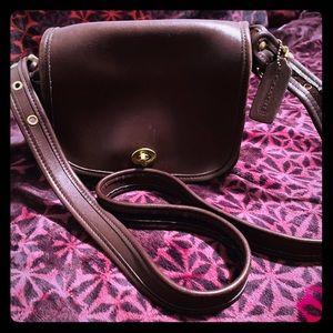 Vintage Coach crossbody Brown Leather Bag